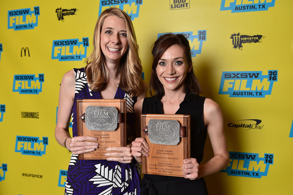 Jocelyn and Dawn receiving the Special Jury Recognition for Writing, SXSW 2016