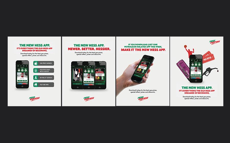 Hess Express Print Ads