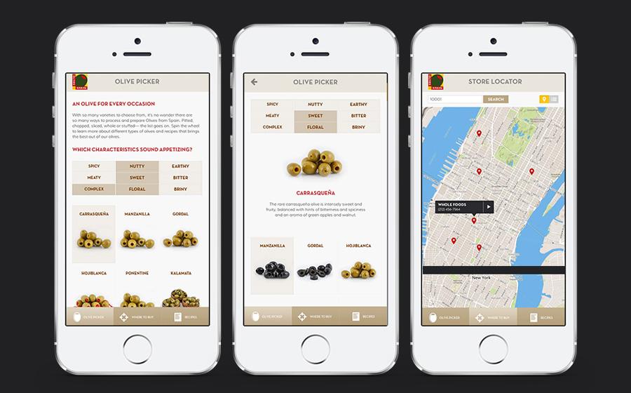 Olives from Spain Mobile Design