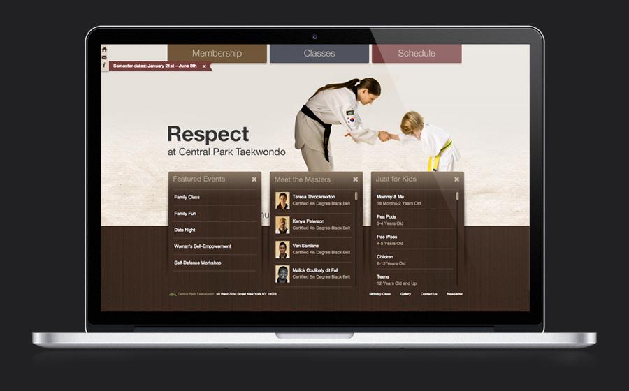 Central Park Taekwondo Website Design and Development