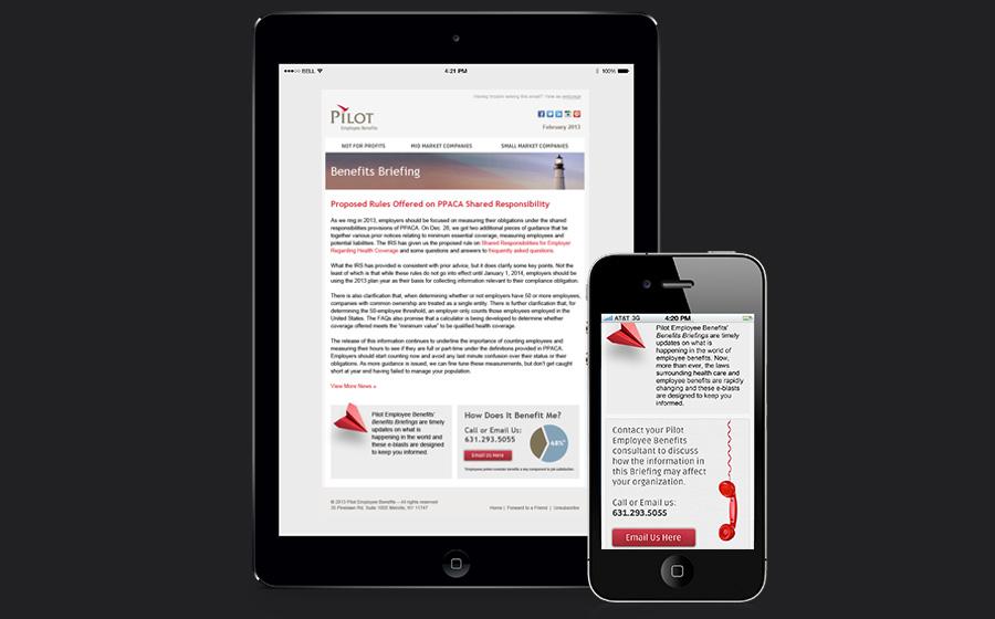 Pilot Employee Benefits-Responsive Email Developent