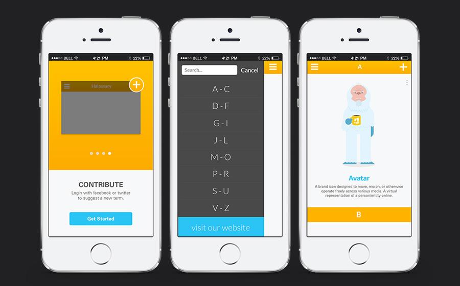 Halossary App Design and Development-UI/UX