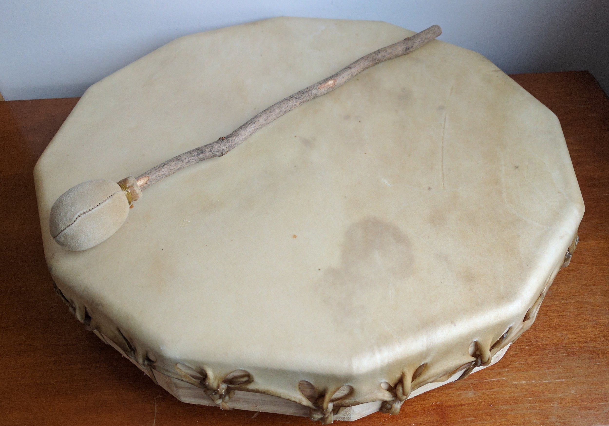 Hand-made Rawhide drum for journeying