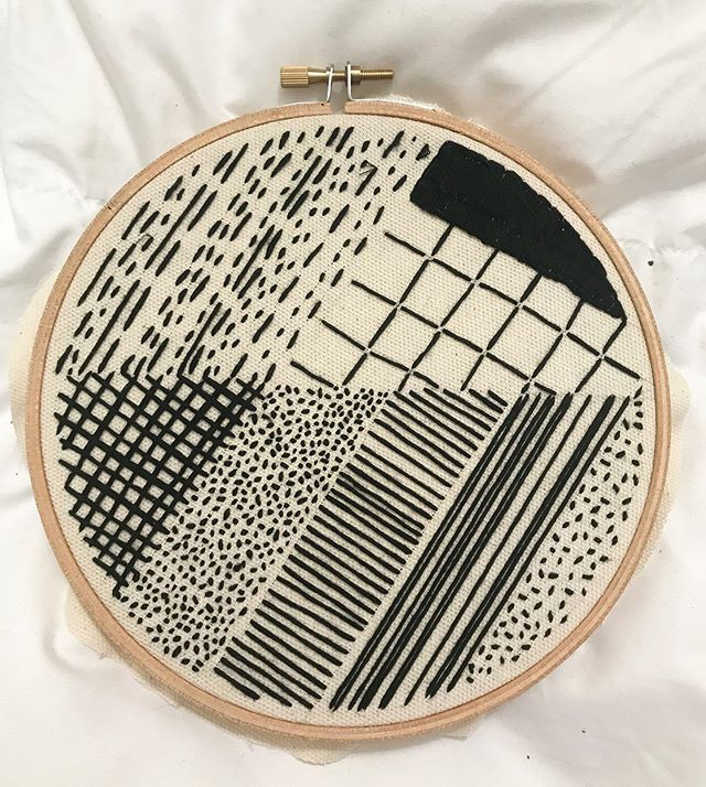 Throwback to this embroidery I did a while ago since I still like it and I'm probably going to revisit it soon. . . . #secondplacestudio #embroideryart #embroiderypattern #printandpattern #blackandwhite #fiberart #makersmovement #makersgonnamake #handsandhustle #madeinkc #midwestartist #kcartist