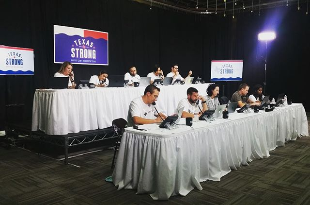 throwin' it back to a year ago when we did the setup for @kvuenews Hurricane Harvey Phone Bank 💪🏼 #tbt #texasstrong #americanrisers #steeldeck #godblesstexas #atx