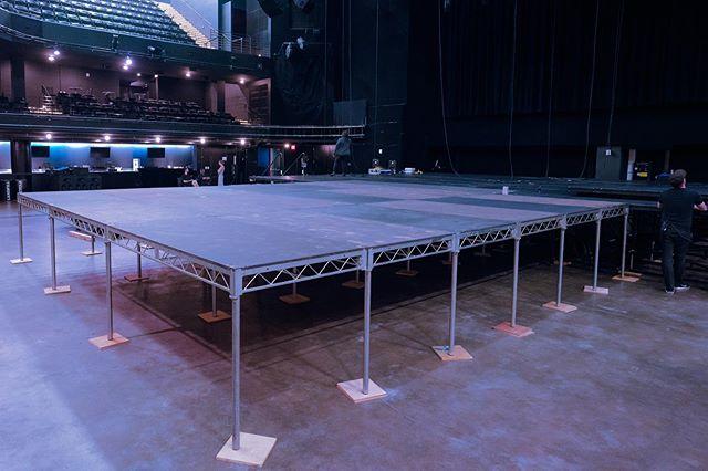 Temporary stage platform for DJ Deadmau5 Cube V.3