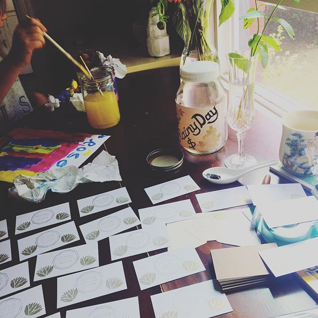 Spent this morning crafting at our home. Join me and the lovely folks from the Herb Shoppe at the Mississippi Street Fair this weekend. We'll be there all day, I'll be offering donation-based Reiki from 4-6pm ✨💛✨