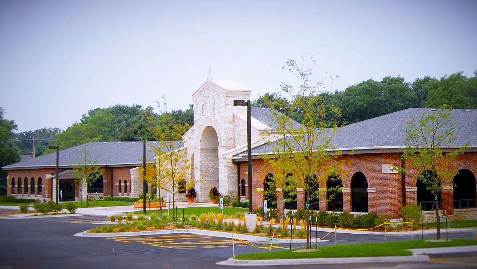 Pre-School entrance next to the church
