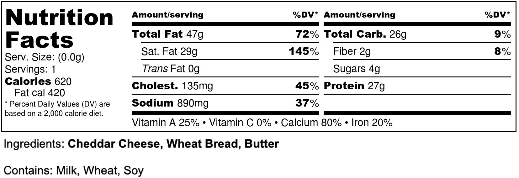 SL Grilled Cheese - Nutrition Label.jpg