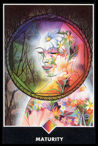Ace of Pentacles   Ambition; power of the body.  New stable situation. Opportunity to give tangible expression to talents in order to achieve something of value.  Fresh ambition toward material success.  Learning to use common sense or realism to solve dilemmas.  Possible accumulation of money through work or other means.