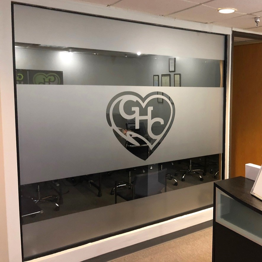 Window Wall Graphics Frosted Vinyl Banners Specialty Signage