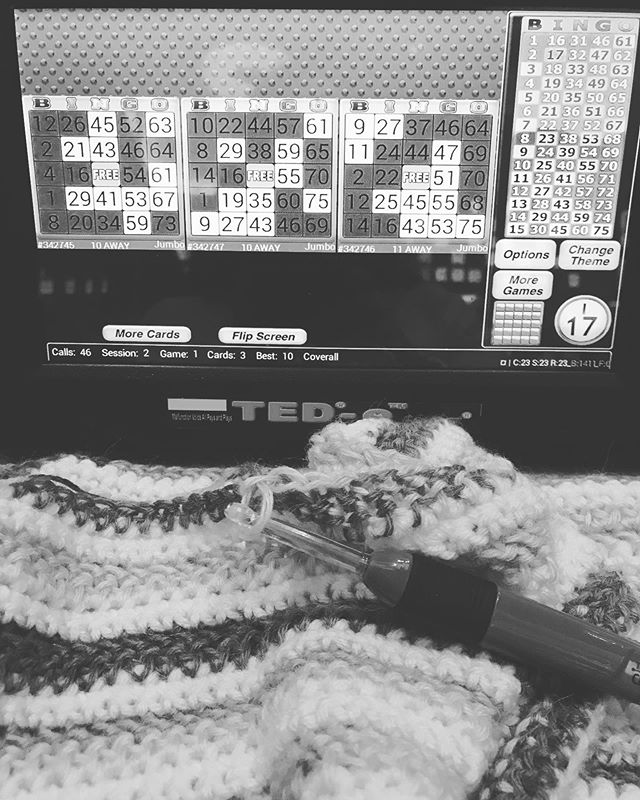 Taking a much needed break from feeling like I work 24/7 for some Sunday bingo and lunch with friends. Alas, work will be waiting for me when I get home. #bingo #lasvegaslocal #crochetersofinstagram