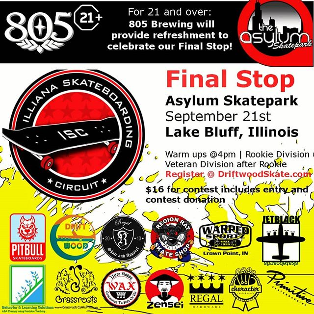 Today's the Day Who's gonna take it all  Final Stop of the Year 805 Beer After Party Come show your support  @asylumskatepark  @pitbullskateboards  @jetblackskateboards  @characterskateboards  @screamingbanana_wheelco @regionratskateshop  @warpedsportz  @royalsna  @regalhardware  @ultraslappywax  @zenseibushings  Special Thanks to @805beer