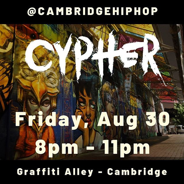 Tonight! 8-11pm! Graffiti Alley #BridgesideCypher