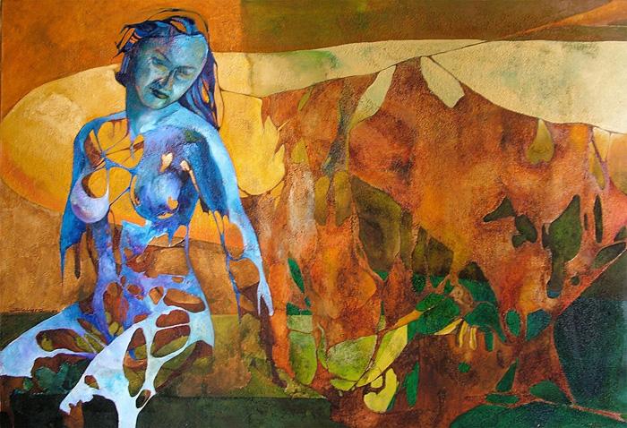Carne de mi carne,   Óleo sobre lienzo, 2000. Colección privada