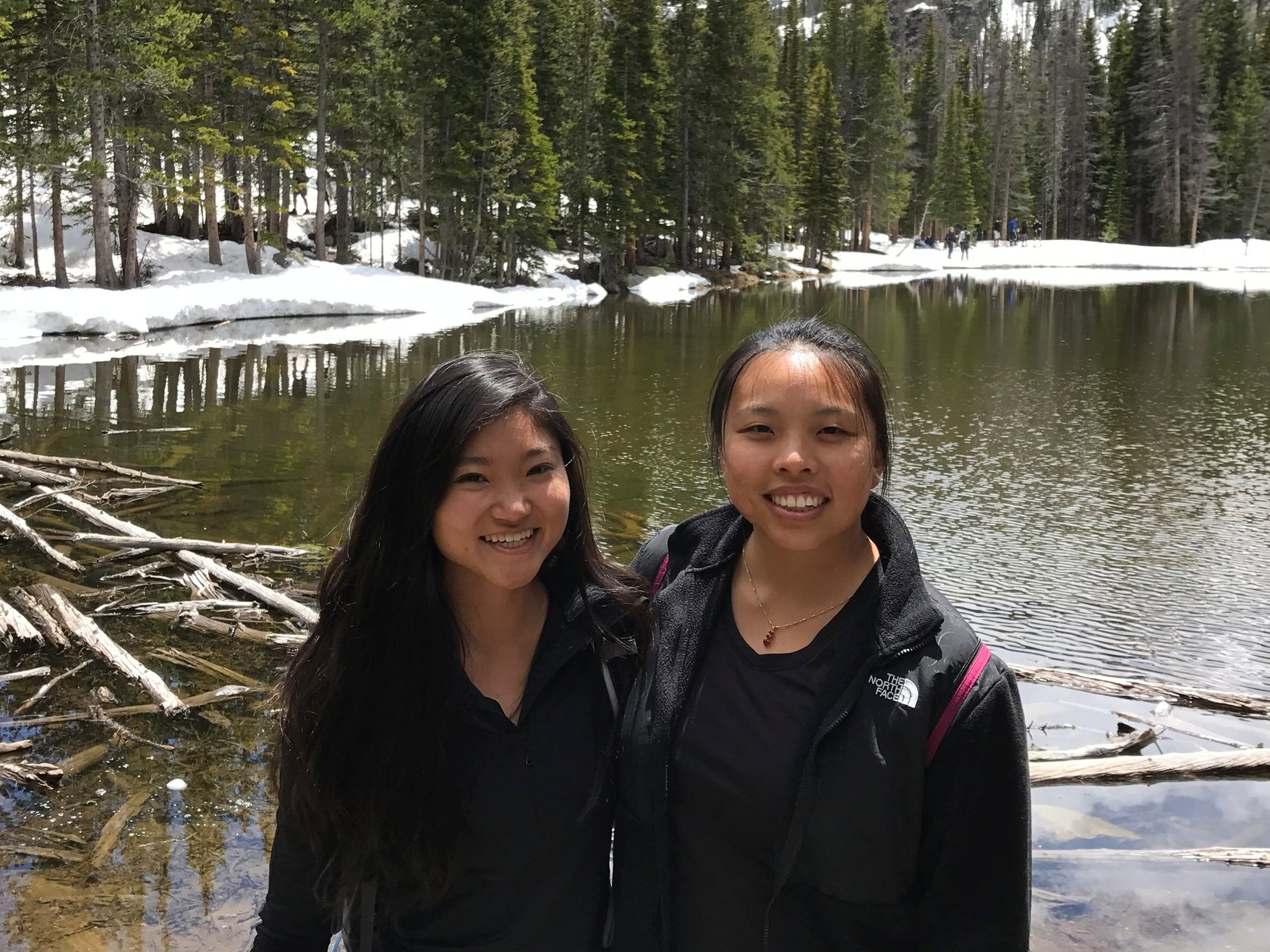 Sabrina Louie   Sab and Kristie met in college at UCLA through dragonboat. They went on many boba runs, made ugly Christmas sweaters together, and even lived together for a year after college! Despite living across country from each other, they've maintained their friendship through trips to Denver, Iceland, NYC, Disneyworld, and more!