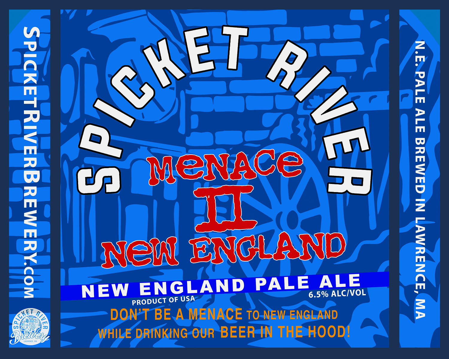 Menace ii new england - American IPA (6.4% abv)A true menace to New England style IPA, Menace II New England is raw and juicy. A hazy, medium bodied blend of oats with four types of malt, and five finely blended hops. What you say bout my mama?!?!?