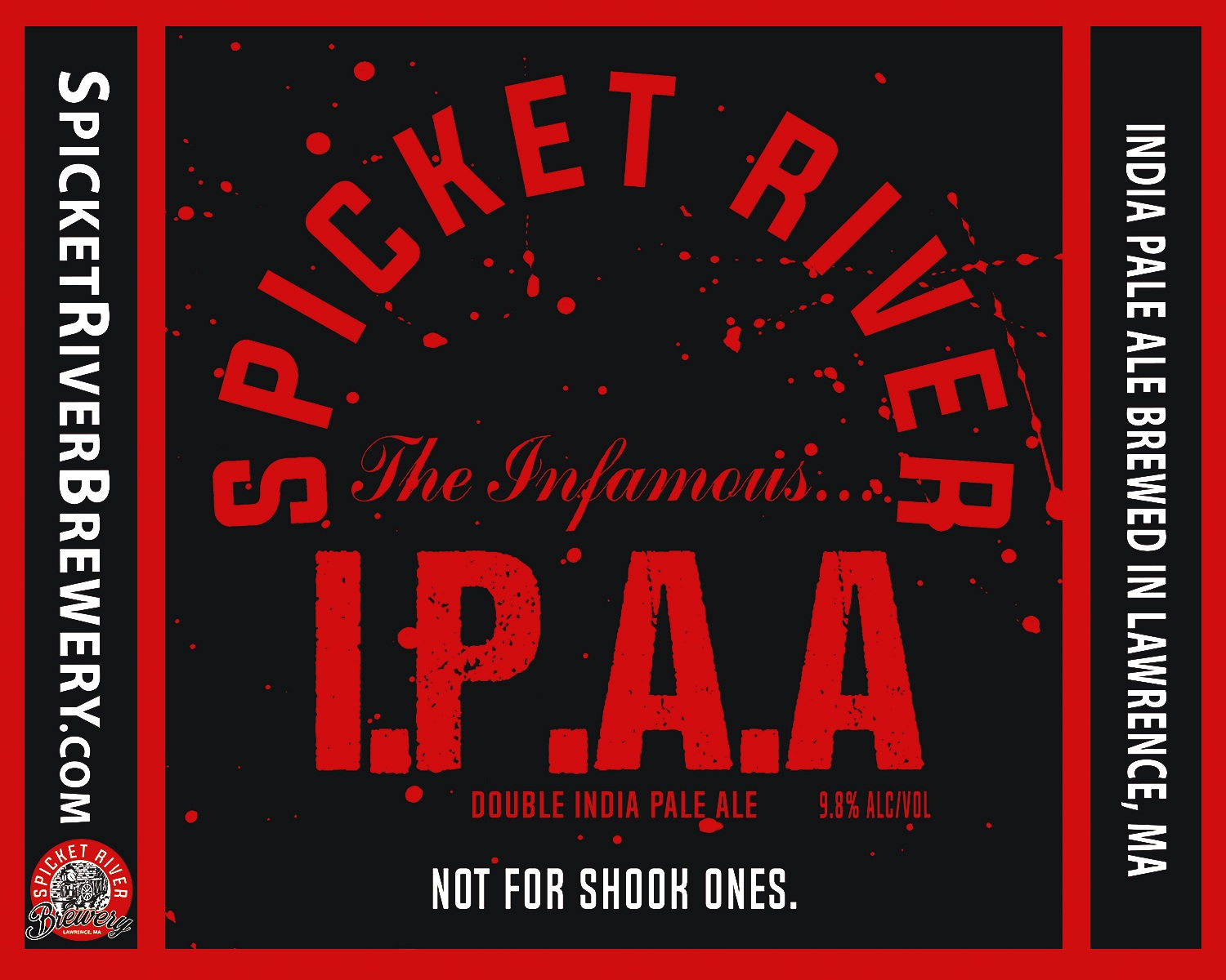 Infamous i.p.a.a. - Double IPA(A) (10% abv)Heady, heavy yet deceptively smooth, Infamous IPAA is a not soft but sweet, lift you off your feet style Double IPA(A). Packing heat with Citra and Denali hops, Infamous IPAA is definitely not for shook ones