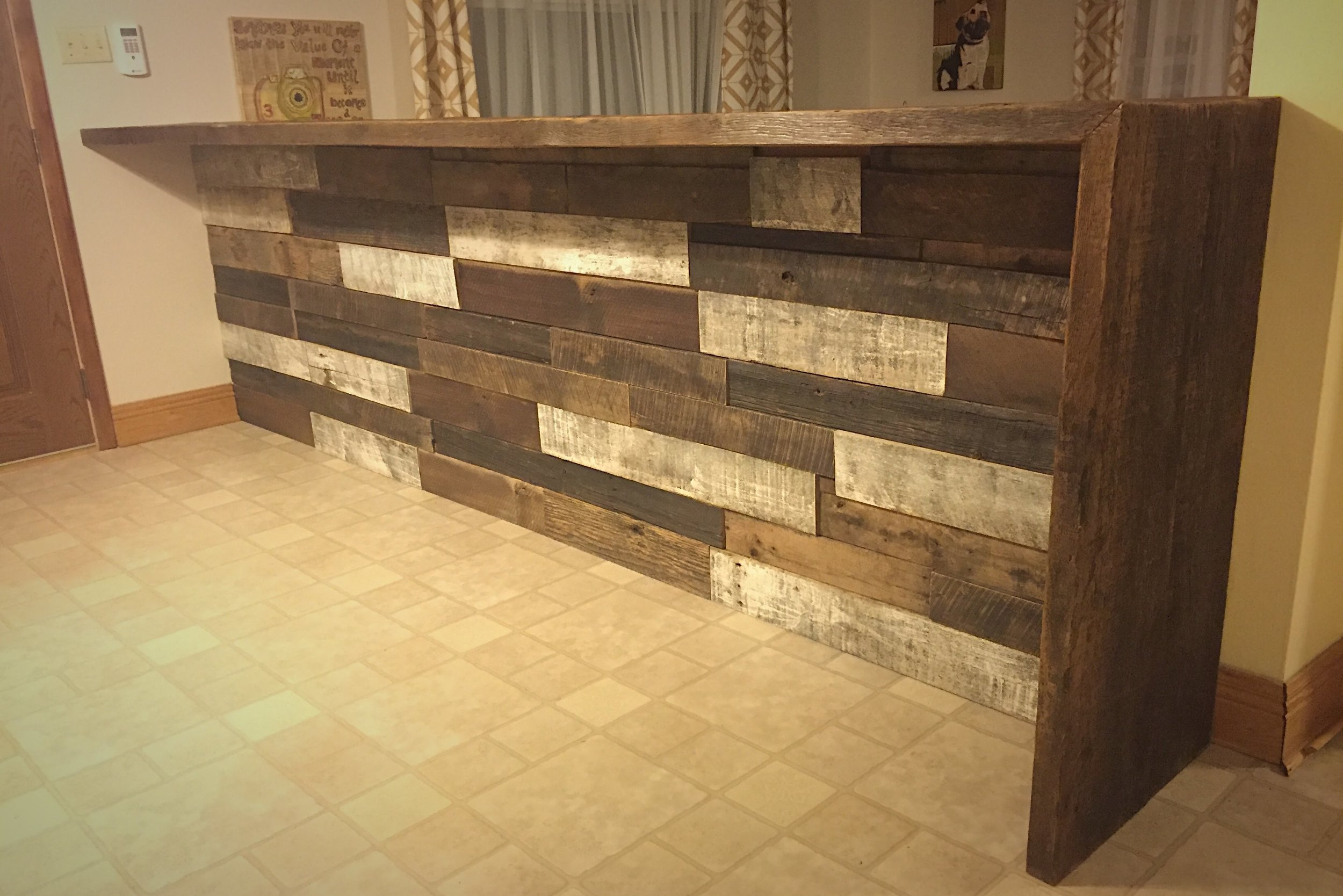 Reclaimed Wood Breakfast Bar