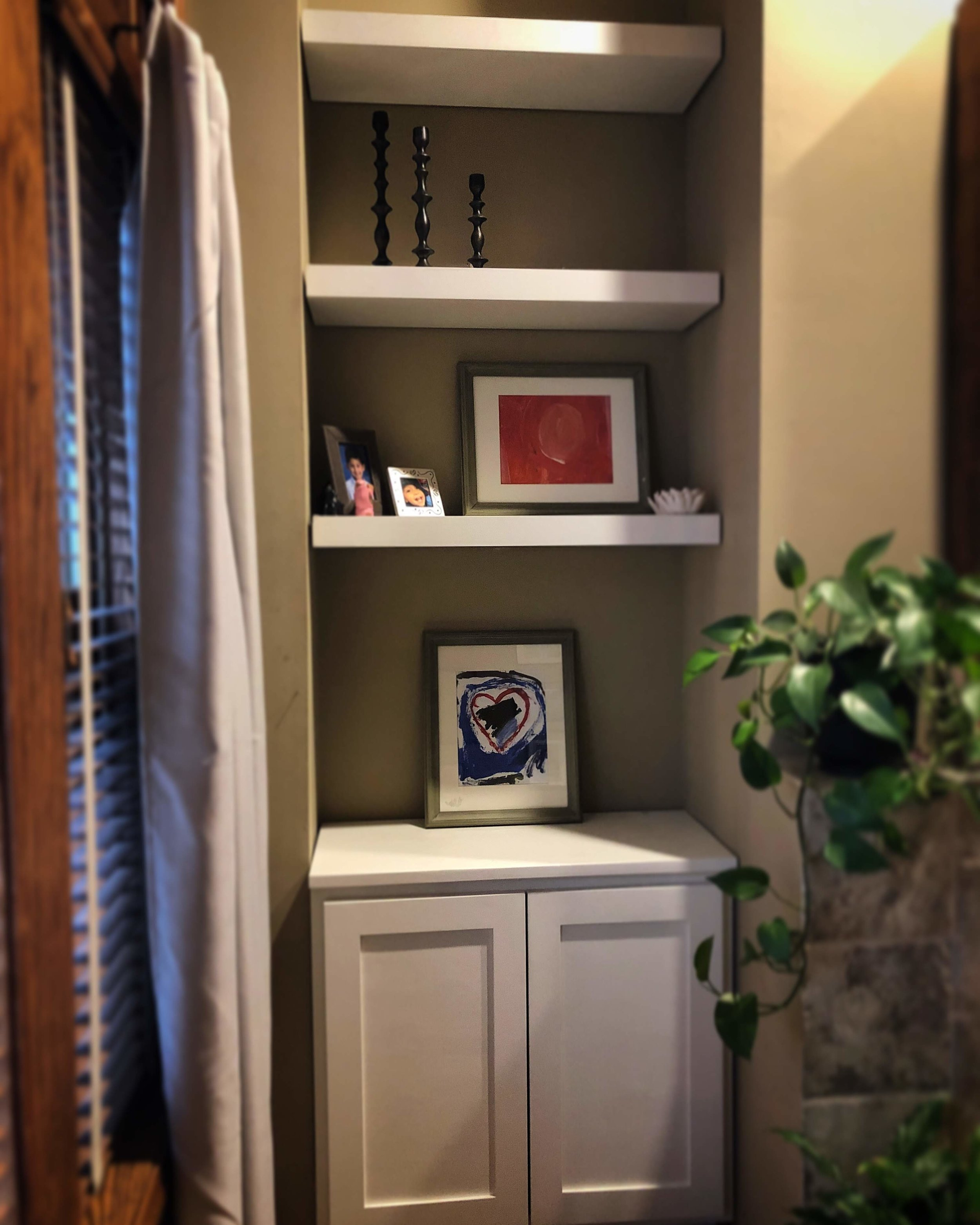 Custom Built-in w/ floating shelves