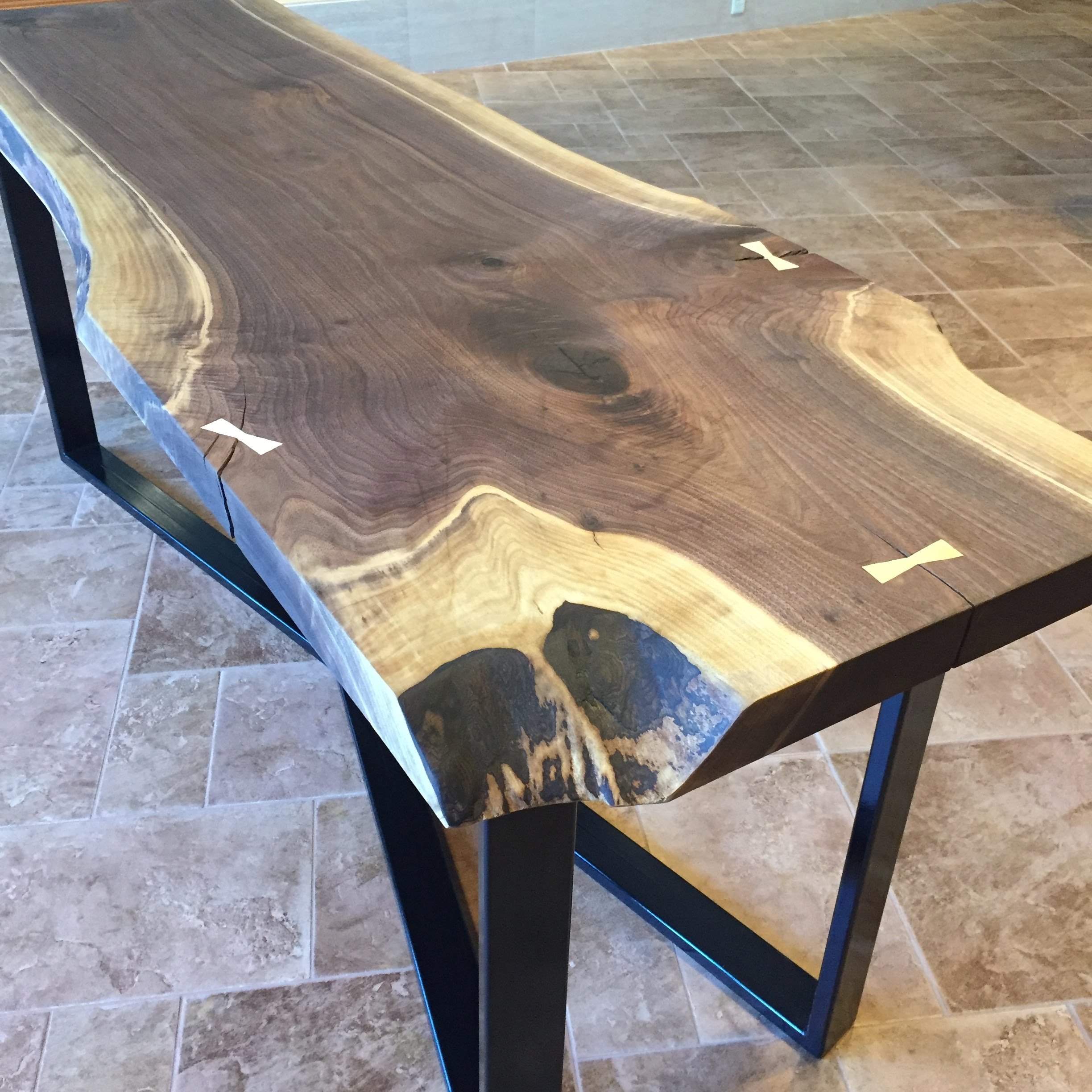 Live Edge Walnut Slab Table