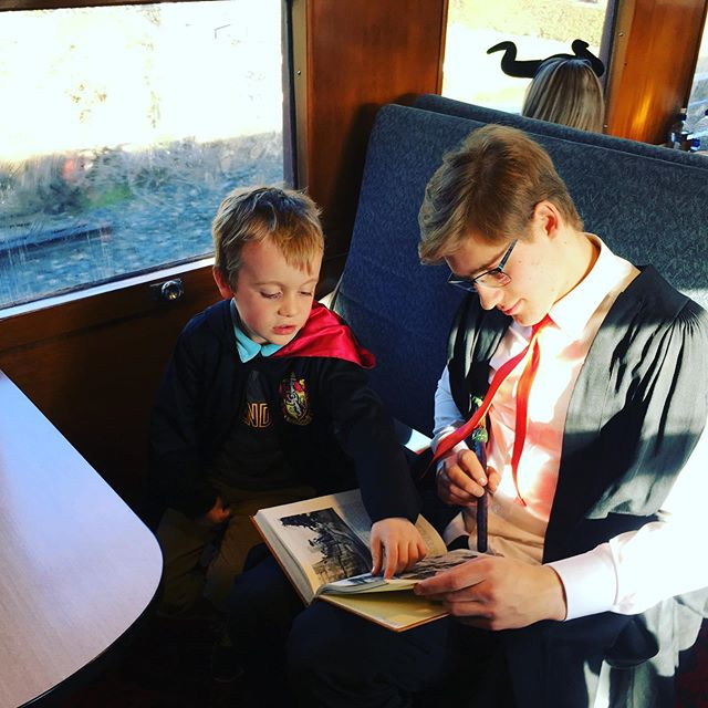 @dunedinrailways came alive today as over 340 witches, wizards and warlocks boarded the @otagodailytimes Enchanted Express! With whimsical newspapers, special treats, our friendly Zealandmire Academy of Magic students and of course a guest appearance from broomstick racing champion Aurora Peasegood we certainly had a magical day out! A big thank you to everyone who joined us on the train today with all of your astounding costumes, we loved seeing so many smiling and surprised faces! See you all again on the ODT Express in 2020!