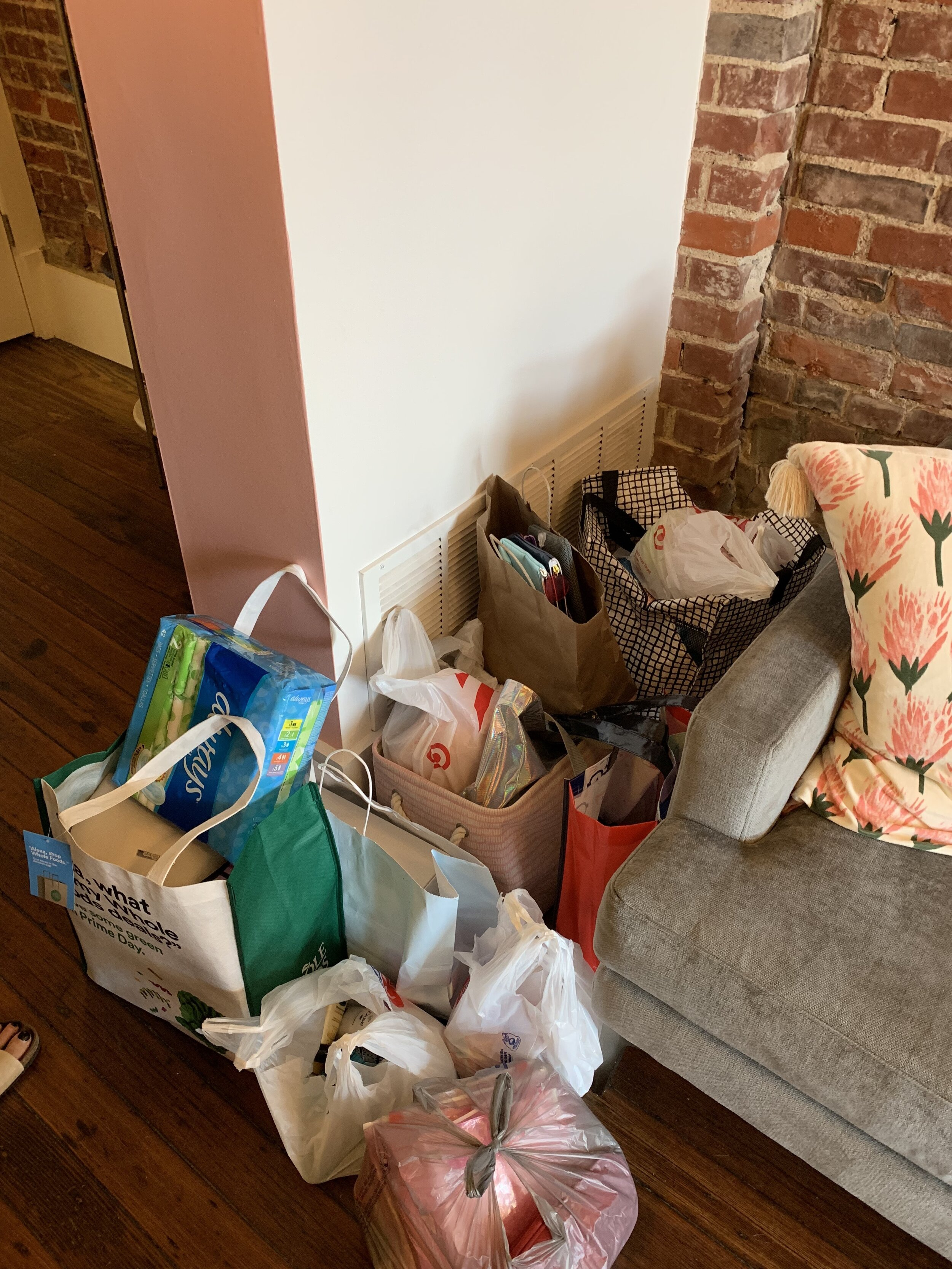 Donations at Hippie & French (Lawrenceville) during our first campaign.