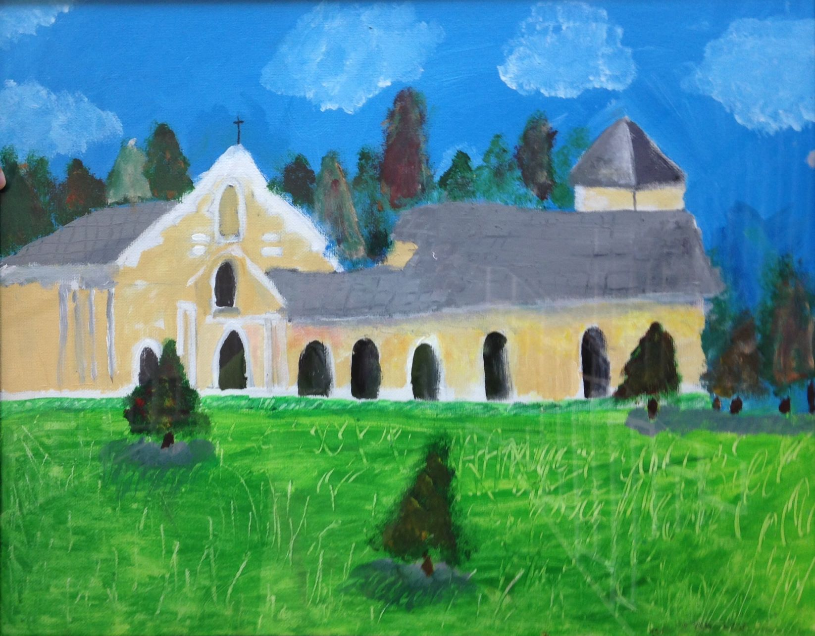 Painting by a young parishioner of St. Aidan's