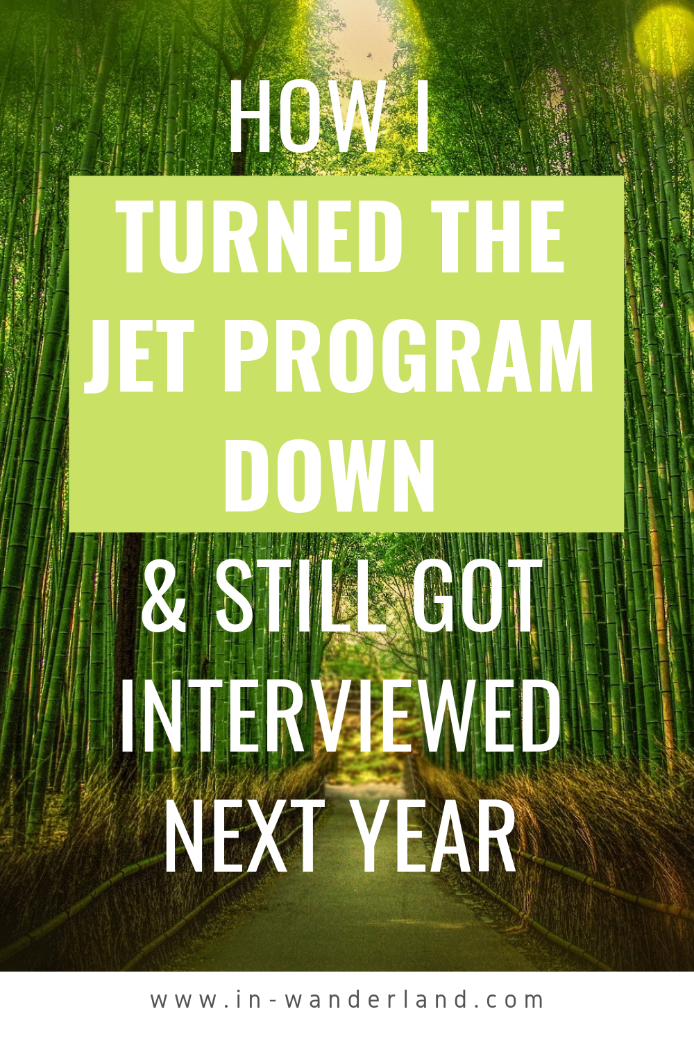 I Declined My JET Program Offer... And Got Another Interview Next Year!