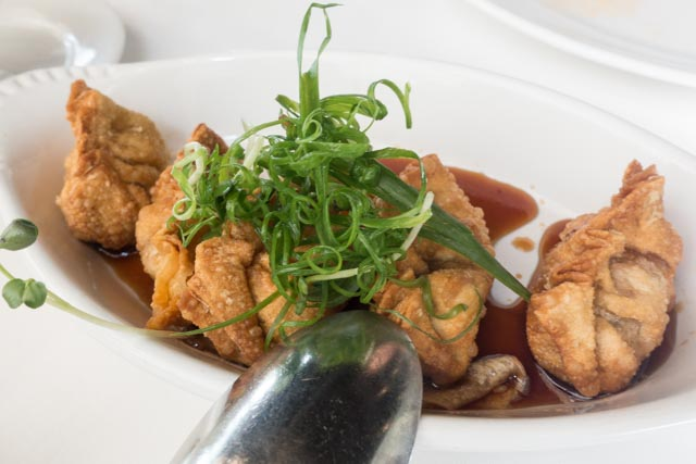 MW Restaurant's Ahi Poke Mandoo