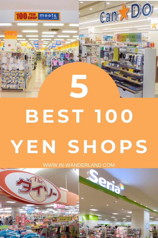 Top 100 Yen Shop Chains in Japan