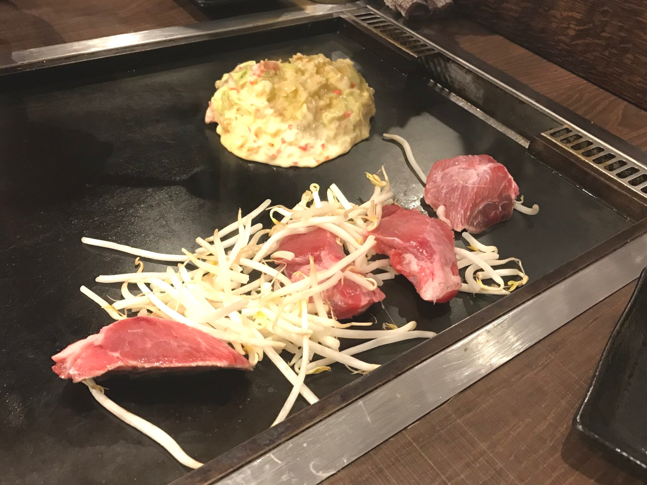 Cook Your Own Okonomiyaki - Maguro Tuna on the Grill