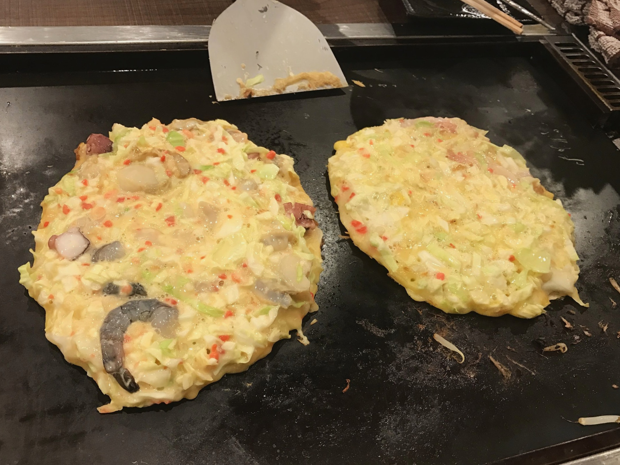 Cook Your Own Okonomiyaki - Waiting for Okonomiyaki to Cook