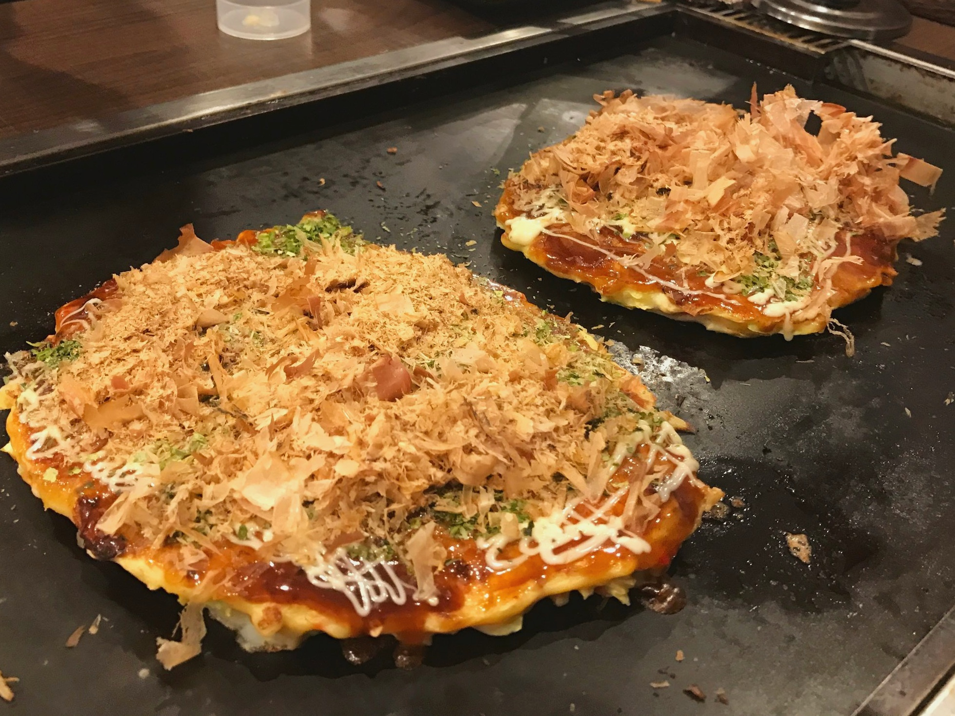 Cook Your Own Okonomiyaki - Okonomiyaki with Katsuo Bonito Flakes