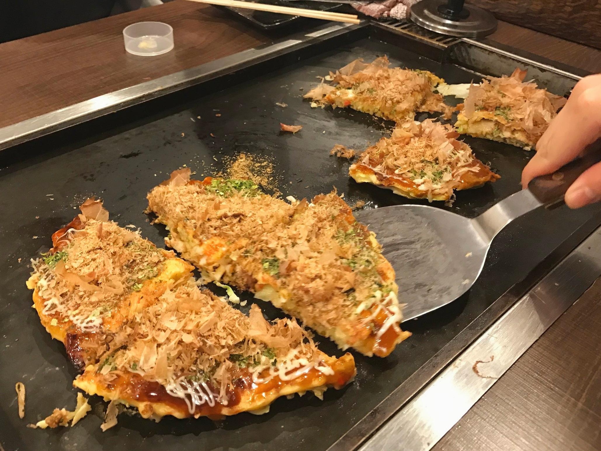 Cook Your Own Okonomiyaki in Asakusa, Tokyo