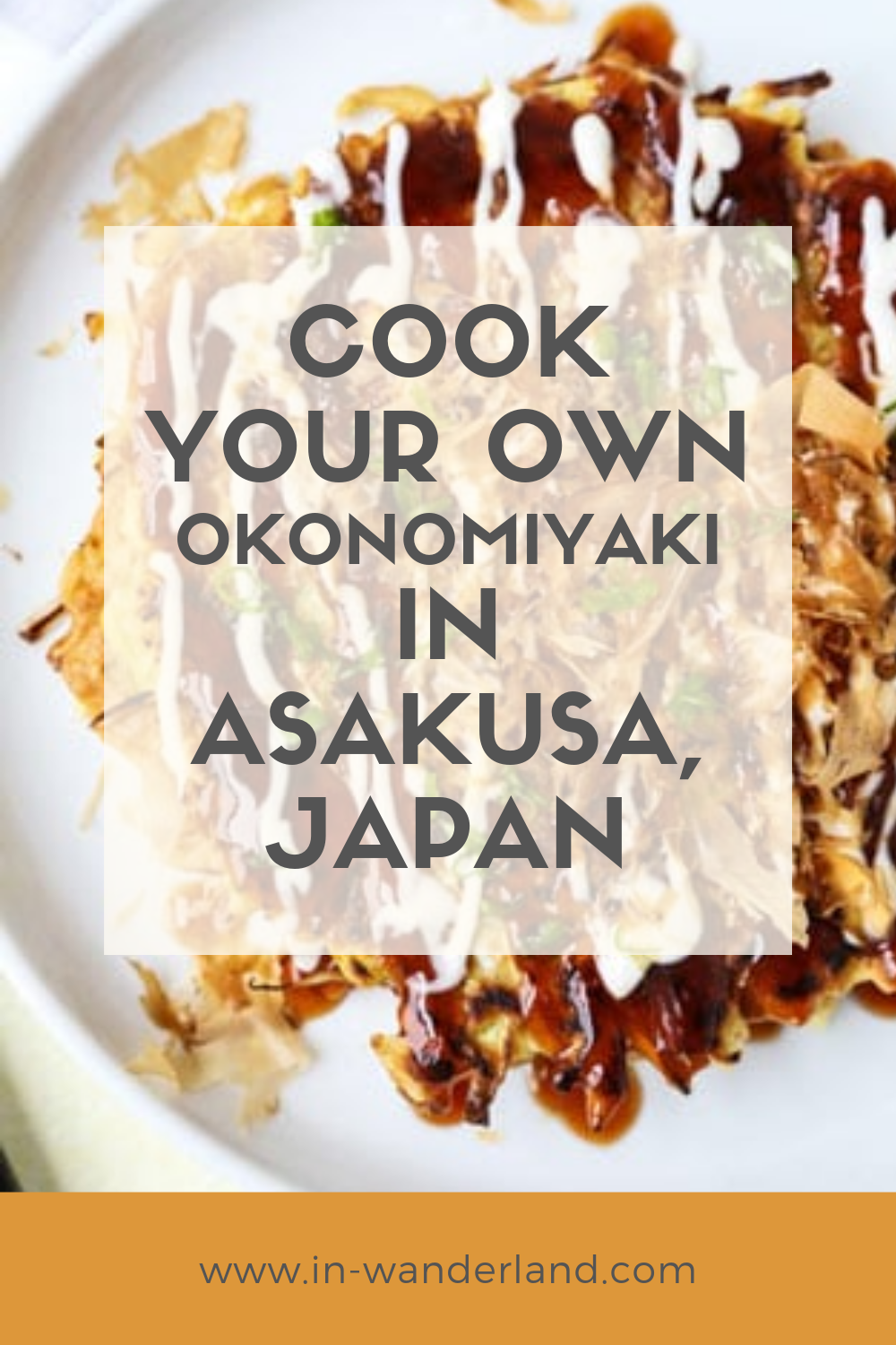 A Cook Your Own Okonomiyaki Restaurant in Asakusa, Japan