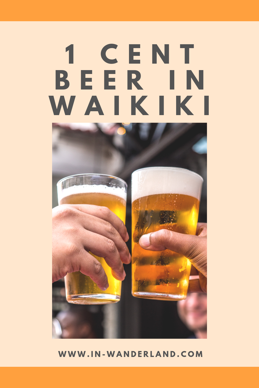 1 Cent Beers At Waikiki Yokocho Gourmet Alley