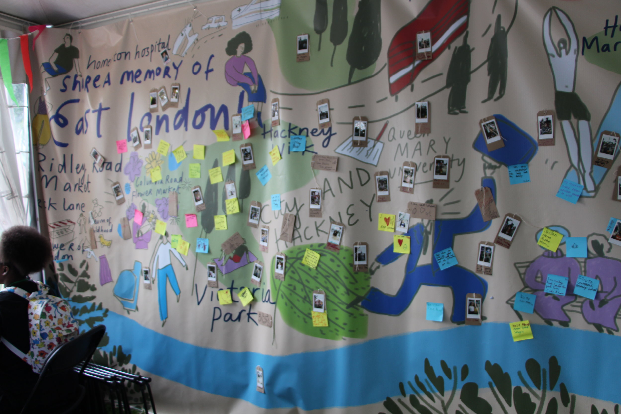 The Foundation for FutureLondon Comfort Zone made its debut at the Great Get Together on 23 June, showcasing our plans for our upcoming community-led hubs.