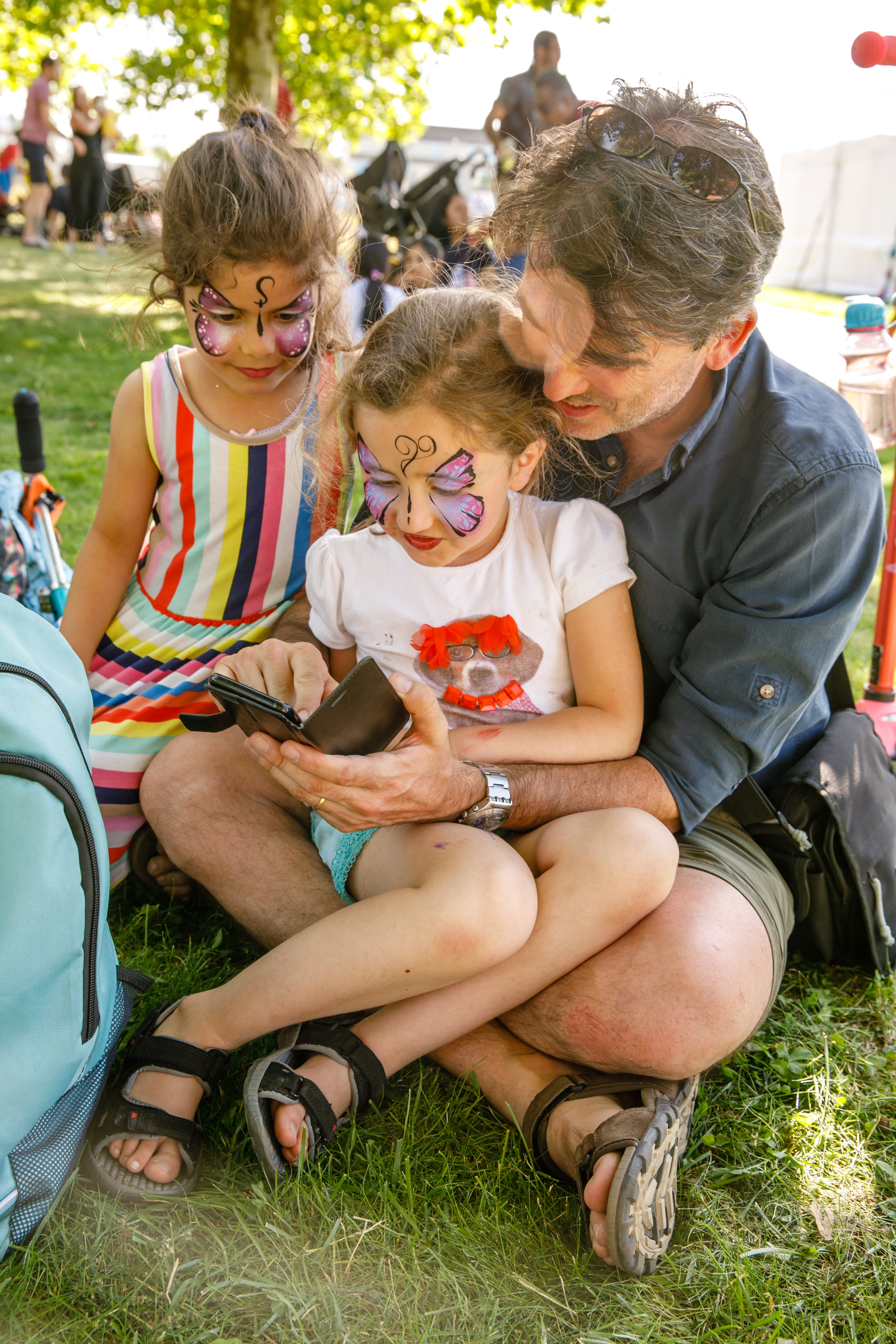 Family picnic in the Park with Sadler's Wells