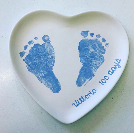 Baby Footprints at 100 days