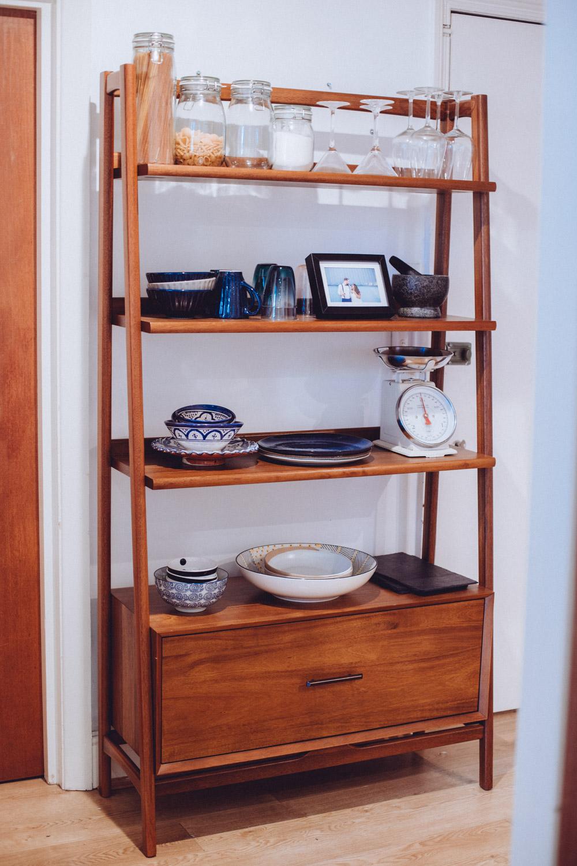 west elm mid century wide bookshelf