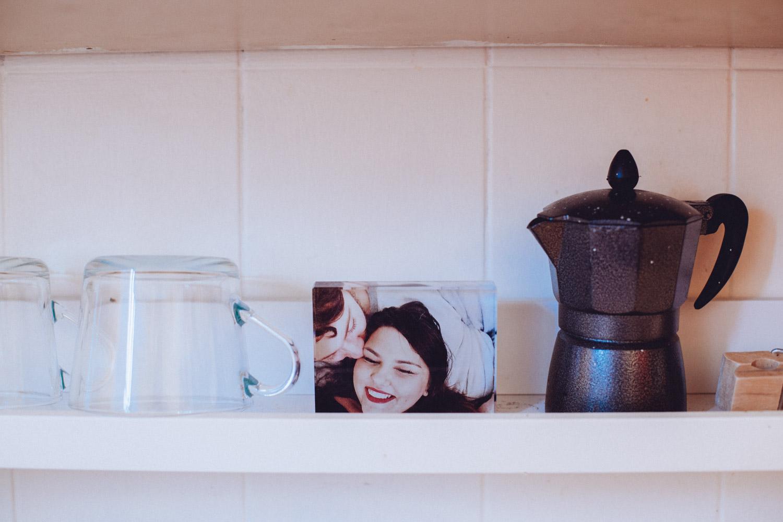 IKEA picture shelves as kitchen storage