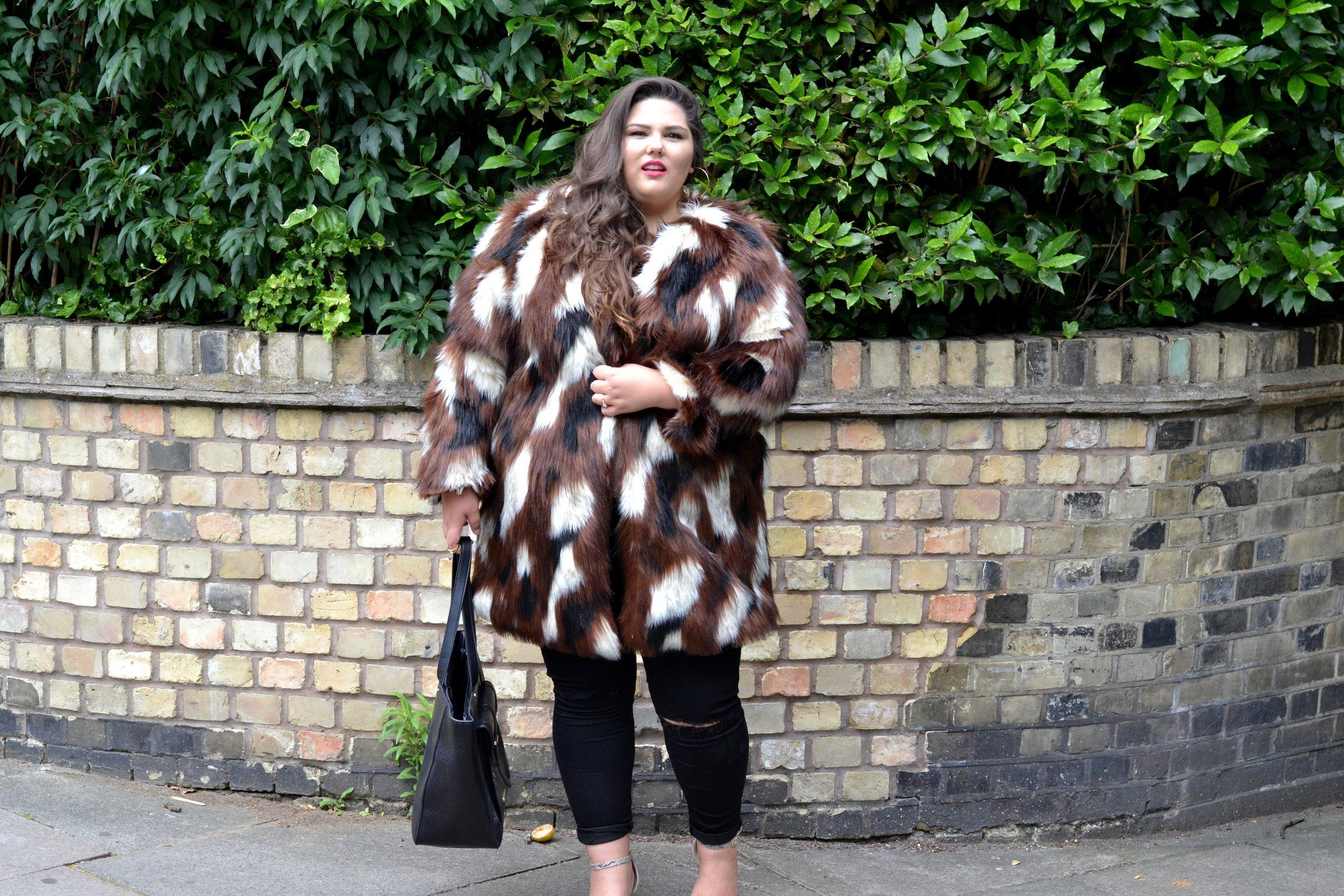 Elvi faux fur and Jeans .JPG
