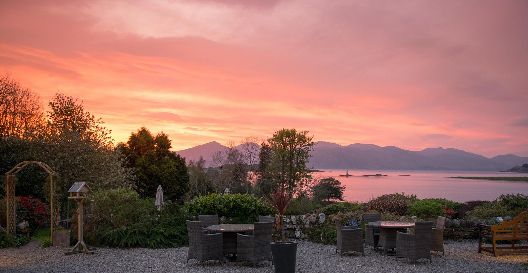 Airds terrace & loch pink sunset.jpg