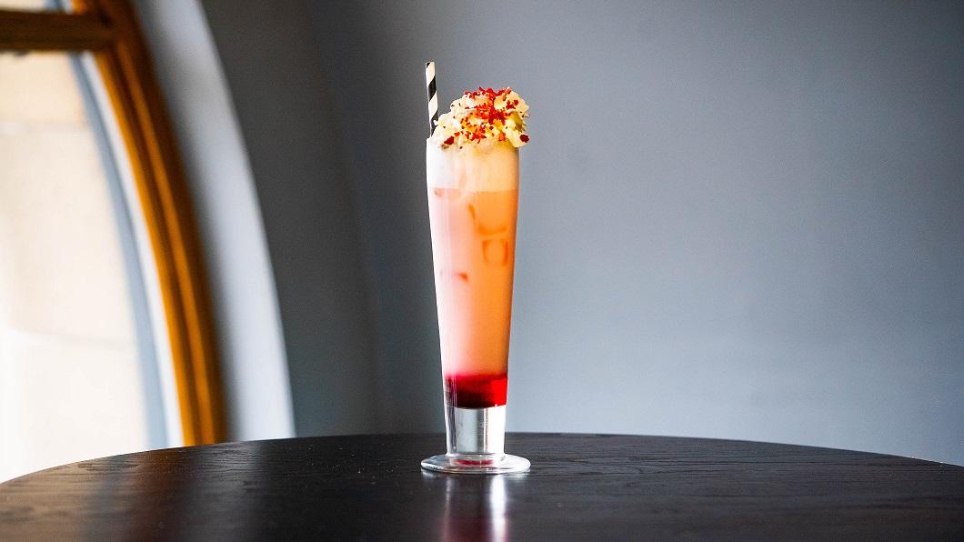 SWEET BREWBARB : Edinburgh Gin Rhubarb & Ginger, Almond Milk, Coconut Cream, Rhubarb Bitters and Vanilla Sugar Syrup