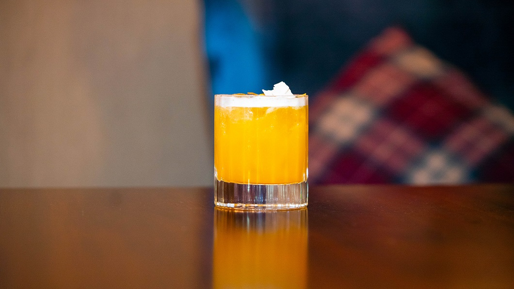 NORTH STORM : Johnnie Walker Double Black Label Whisky, Apricot Liqueur, Pineapple Juice, Lemon Juice, Bitters and Homemade Fennel Syrup
