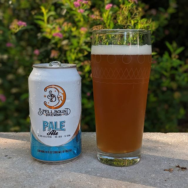 Hot August nights call for a cold @spellboundbrewing Pale Ale.  American Pale Ale (APA) 5.5% ABV