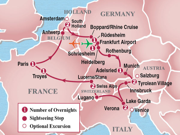 - 15 DAY HEART OF EUROPE CIRCLE TOUR