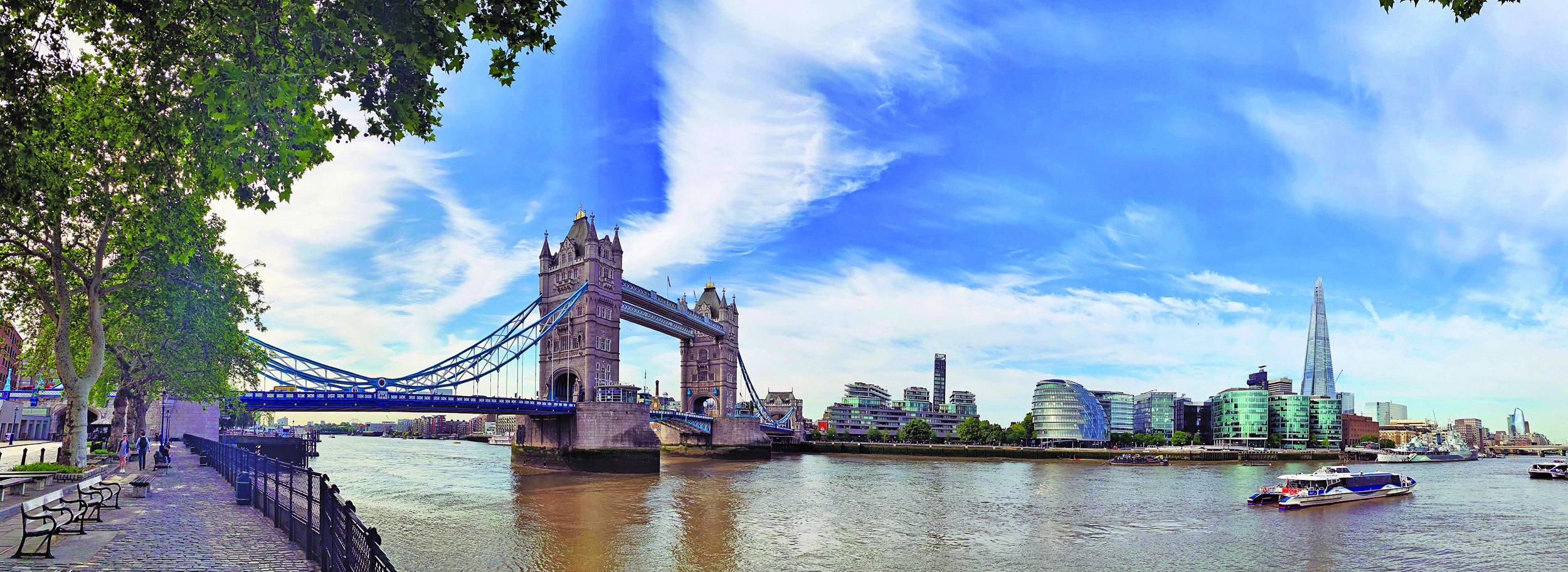 Tower Bridge & The Shard -London, England