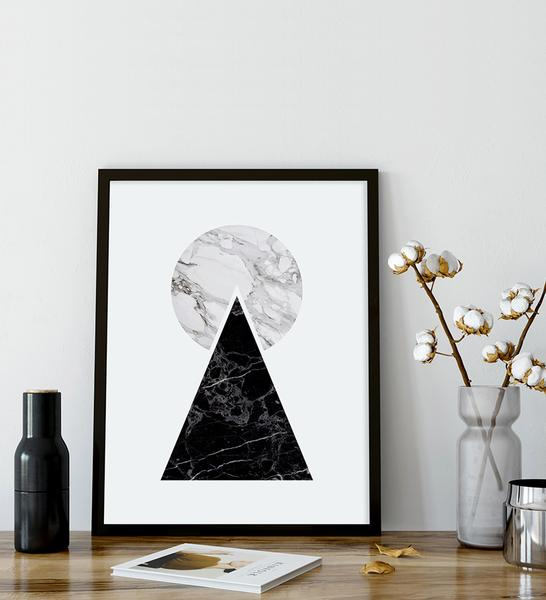 Nothing can beat the elegance of our      Marble Pyramid poster     !